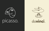 Esse designer criou logotipos exclusivos para pintores famosos